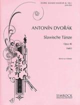 Danses Slaves Opus 46 Volume 1. 4 mains DVORAK laflutedepan.com