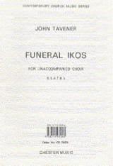 Funeral Ikos - John Tavener - Partition - Chœur - laflutedepan.com