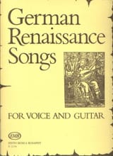 German Renaissance Songs. - Partition - Guitare - laflutedepan.com