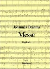Messe (Canonique) - Johannes Brahms - Partition - laflutedepan.com