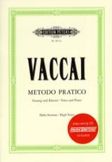 Nicola Vaccai - Metodo Pratico High Voice - Sheet Music - di-arezzo.com