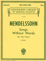MENDELSSOHN - Romances Sans Paroles - Partition - di-arezzo.fr