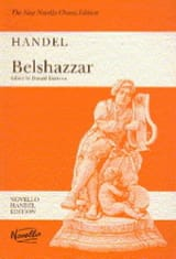 Belshazzar - Georg-Friedrich Haendel - Partition - laflutedepan.com