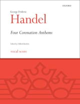 4 Coronation Anthems HAENDEL Partition Chœur - laflutedepan.com