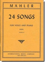 24 Songs Volume 3 Voix Haute Gustav Mahler Partition laflutedepan.com