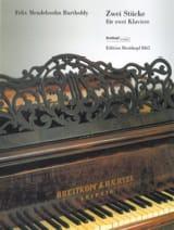 2 Stücke. 2 Pianos - Félix MENDELSSOHN - Partition - laflutedepan.com