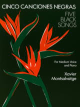 Xavier Montsalvatge - 5 Canciones Negras. Mean Voice - Sheet Music - di-arezzo.co.uk