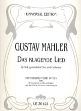 Gustav Mahler - Das Klagende Lied 1ère version 1880 - Partition - di-arezzo.fr