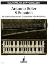 8 Sonates Antonio Soler Partition Clavecin - laflutedepan.com