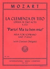 MOZART - Parto! My you, Ben Mio K 621. the Clemenza Di Tito - Sheet Music - di-arezzo.com