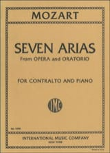 MOZART - 7 Arias From Opera And Oratorio Contralto - Sheet Music - di-arezzo.co.uk
