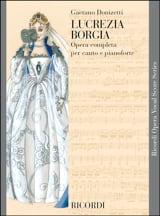 Lucrezia Borgia Gaetano Donizetti Partition Opéras - laflutedepan.com