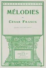 César Franck - Mélodies. Voix Grave - Partition - di-arezzo.fr