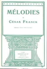 Mélodies. Voix Haute FRANCK Partition Mélodies - laflutedepan