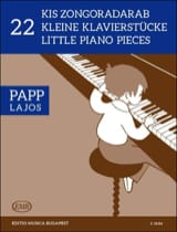 22 Little Pieces Lajos Papp Partition Piano - laflutedepan.com