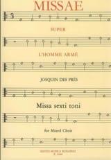 Messe Super L'homme Armé Josquin Després Partition laflutedepan.com