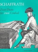 2 Duos Pour 2 Clavecins Christoph Schaffrath laflutedepan.com