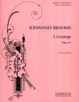 BRAHMS - 2 Gesänge Opus 91 - Sheet Music - di-arezzo.co.uk