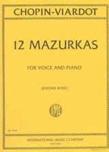 12 Mazurkas Chopin Frédéric / Viardot Pauline laflutedepan.com