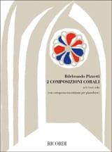 2 Composizioni Corali Ildebrando Pizzetti Partition laflutedepan.com