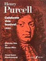 Celebrate This Festival Henry Purcell Partition laflutedepan.com