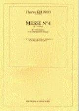 Messe N° 4 Ut Majeur - Charles Gounod - Partition - laflutedepan.com