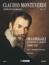 Madrigali Libro 8 Volume 1 - Claudio Monteverdi - laflutedepan.com