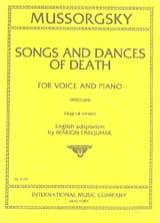 Modest Moussorgsky - Chants et Danses de la Mort. Voix Moyenne - Partition - di-arezzo.fr