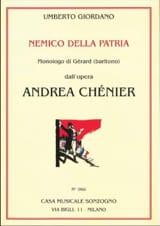 Nemico Della Patria. Andrea Chénier Umberto Giordano laflutedepan.com