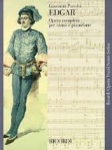 Edgar Giacomo Puccini Partition Opéras - laflutedepan.com