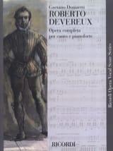 Roberto Devereux - Gaetano Donizetti - Partition - laflutedepan.com