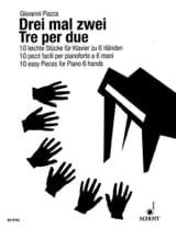 3 Mal 2. 6 Mains Giovanni Piazza Partition Piano - laflutedepan.com