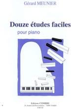 12 Etudes Faciles Gérard Meunier Partition Piano - laflutedepan.com