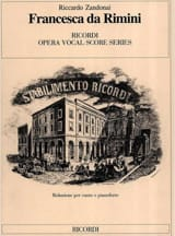 Riccardo Zandonai - Francesca Da Rimini - Sheet Music - di-arezzo.co.uk