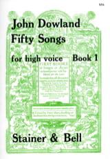50 Songs Voix Haute Volume 1 - John Dowland - laflutedepan.com