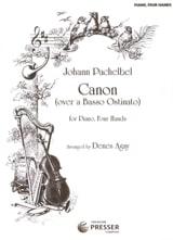 Canon. 4 Mains Johann Pachelbel Partition Piano - laflutedepan.com