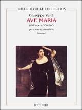VERDI - Ave Maria. Otello. - Partition - di-arezzo.fr