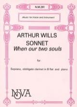 Sonnet When Our 2 Souls Arthur Wills Partition laflutedepan.com