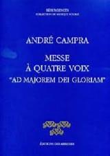 Messe Ad Majorem Dei Gloriam André Campra Partition laflutedepan.com
