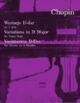 Variations En Ré Majeur. 4 Mains CHOPIN Partition laflutedepan.com