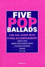 5 Pop Ballads SSA Partition Chœur - laflutedepan.com