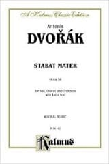 DVORAK - Stabat Mater Opus 58 - Sheet Music - di-arezzo.co.uk