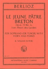 Le Jeune Pâtre Breton Opus 13-4 BERLIOZ Partition laflutedepan.com