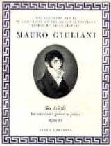 6 Ariette Opus 95 Mauro Giuliani Partition Guitare - laflutedepan.com
