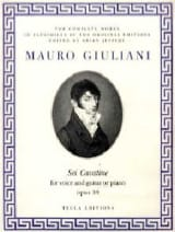 6 Cavatine Opus 39 Mauro Giuliani Partition Guitare - laflutedepan.com