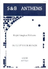 O, Clap Your Hands Williams Ralph Vaughan Partition laflutedepan.com