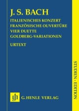 Jean-Sébastien Bach - Concerto Italien, Ouverture Française, 4 Duos et Variations Goldberg. - Partition - di-arezzo.fr