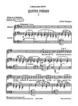 4 Poèmes Arthur Honegger Partition Mélodies - laflutedepan.com