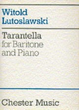 Tarentelle Witold Lutoslawski Partition Mélodies - laflutedepan.com