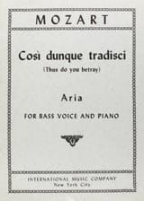 MOZART - Cosi Dunque Tradisci K 432 - Sheet Music - di-arezzo.co.uk